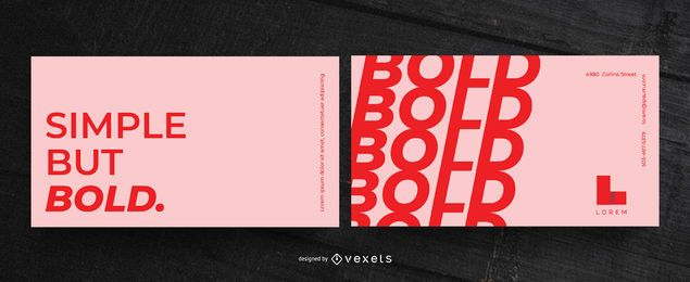 Simple bold business card template