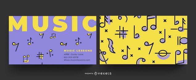 Design de cartão de visita de música