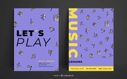 Plantilla de póster de música simple