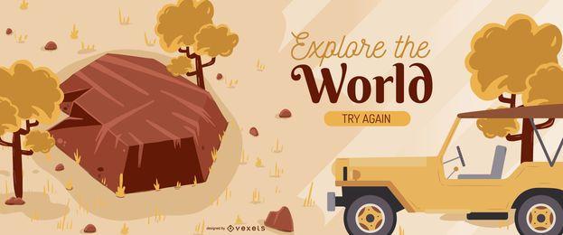Diseño de banner editable de Safari