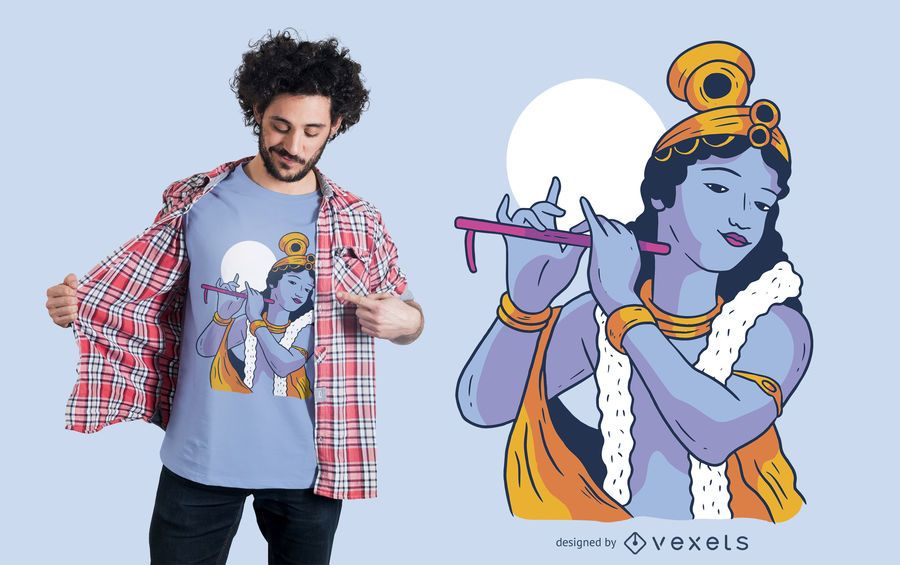 Krishna Gott T-Shirt Design