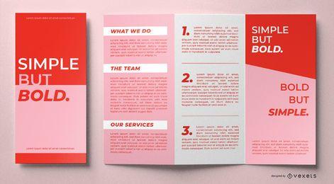 Modelo de brochura simples mas ousado