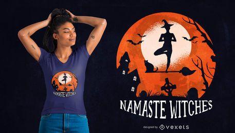 Diseño de camiseta Yoga Halloween Quote