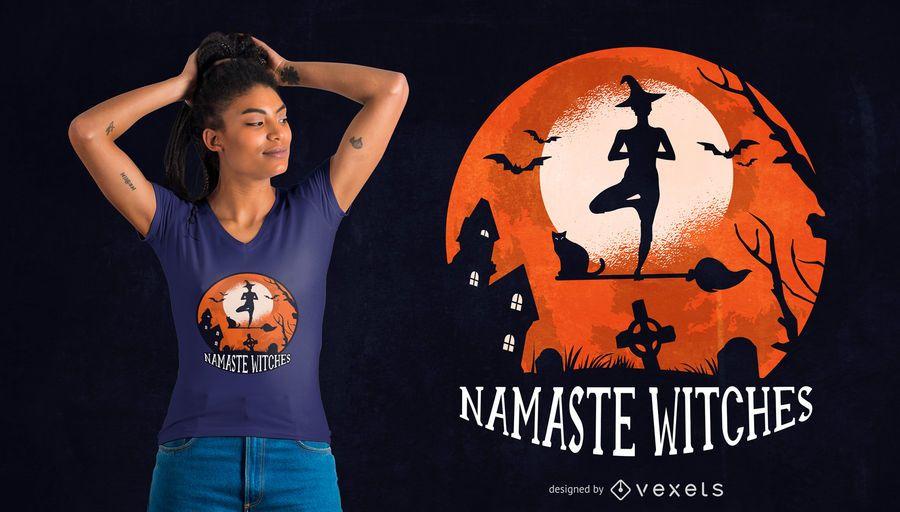 Diseño de camiseta de Yoga Halloween Quote