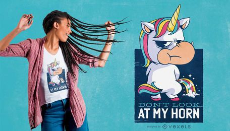 Diseño de camiseta divertido lindo unicornio cita