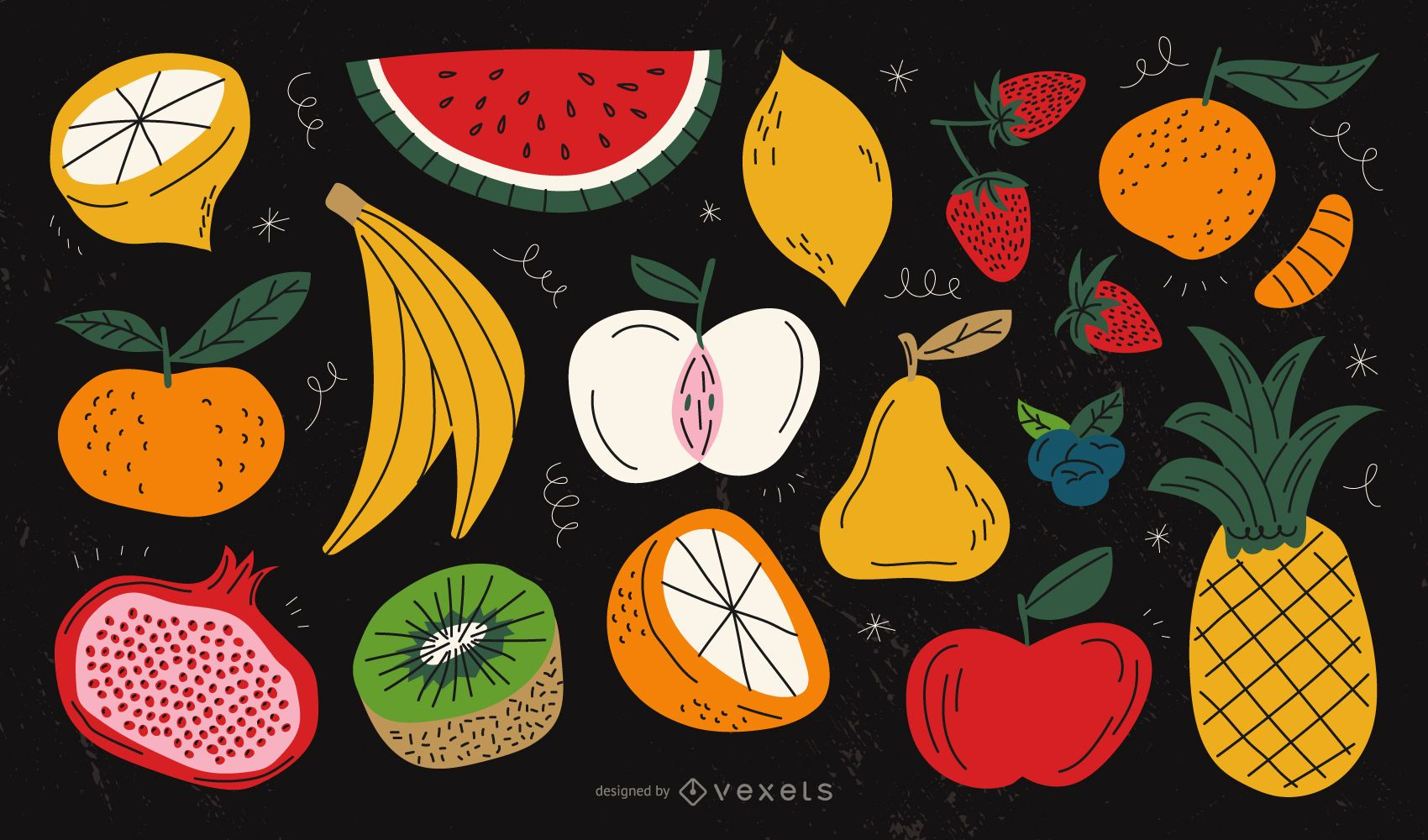 Fruits colorful collection