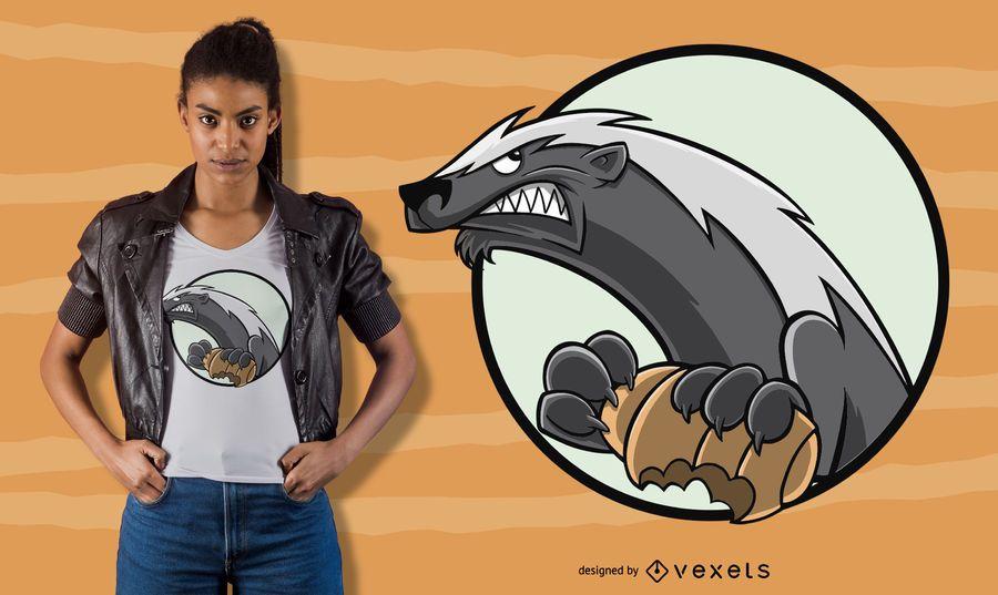 Honey badger t-shirt design