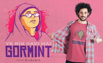 Pakistanische Frauen Meme Zitat T-Shirt Design