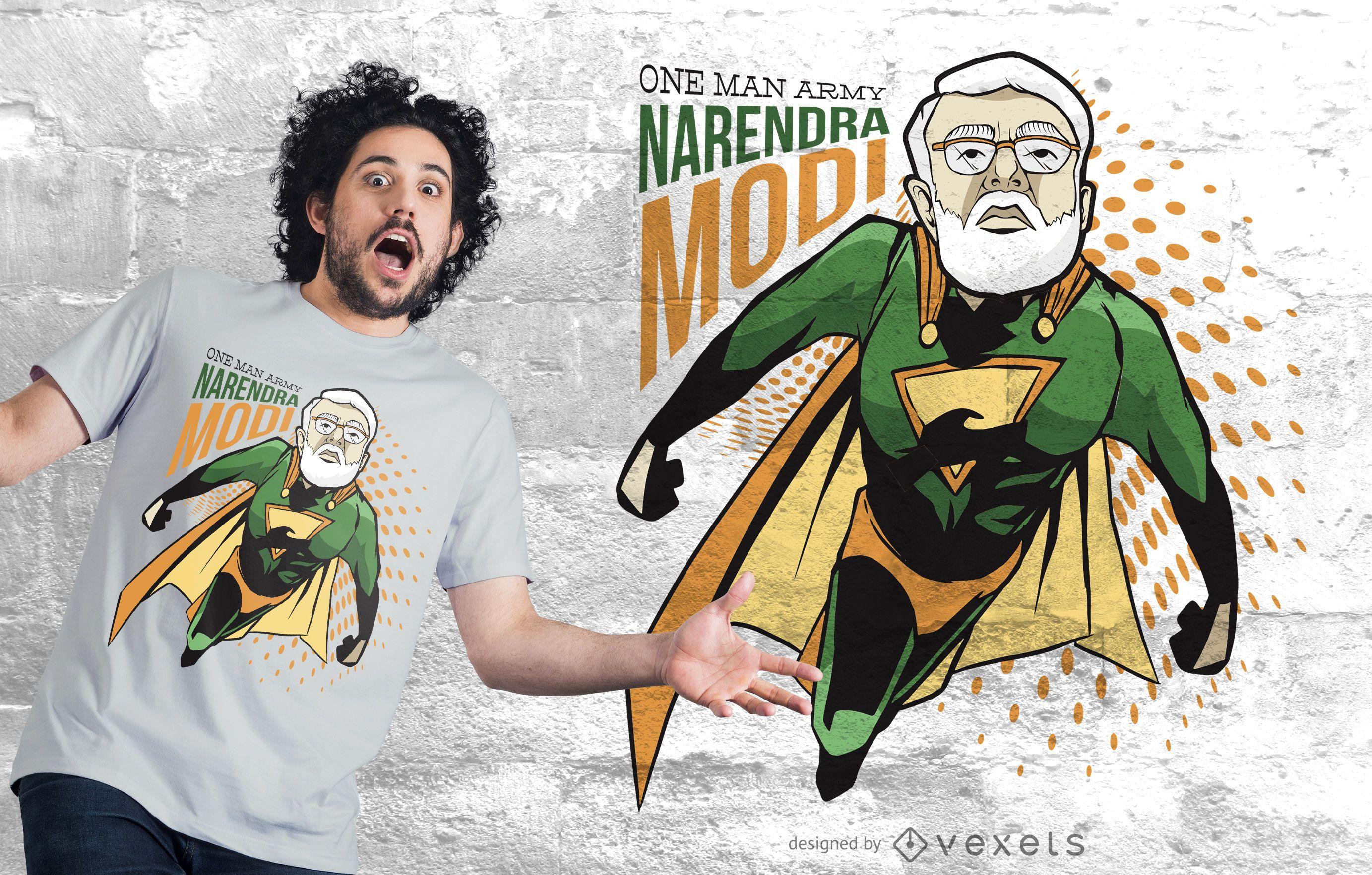 Narendra modi superhero t-shirt design