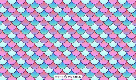 Diseño de patrón de escamas de sirena