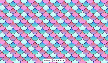Mermaid scales pattern design