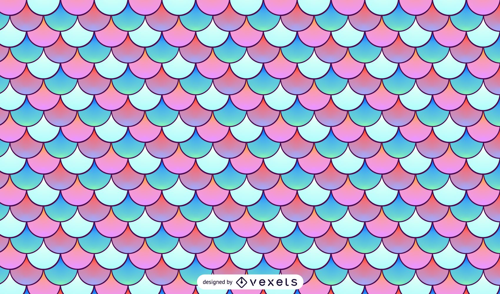 Mermaid scales pattern design