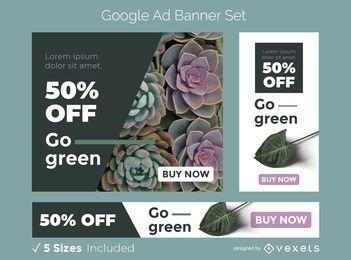 Gehen Sie grün Werbebanner gesetzt