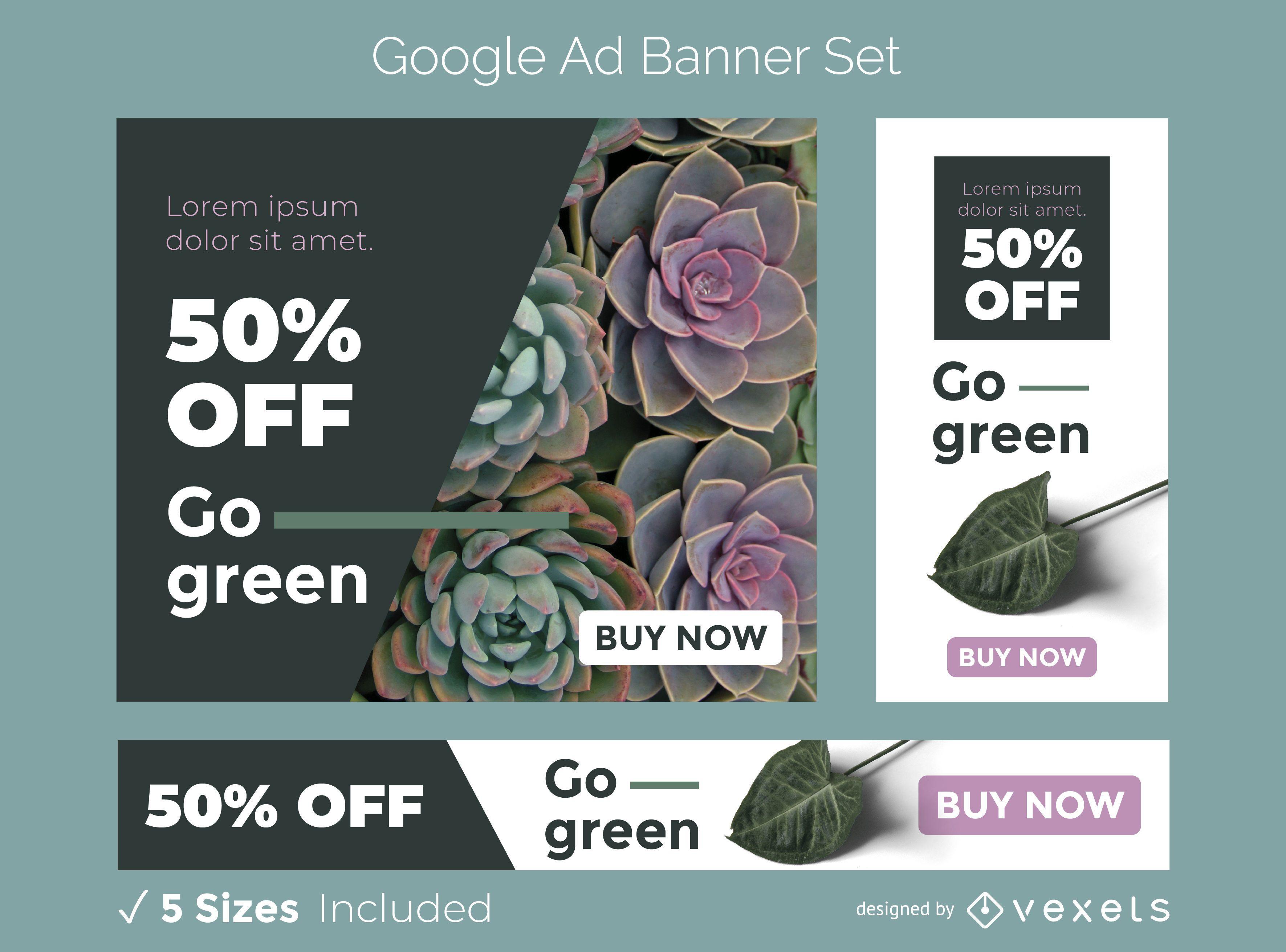 Go green ad banner set
