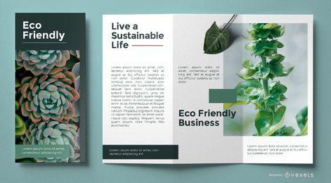 Modelo de brochura amigável de eco