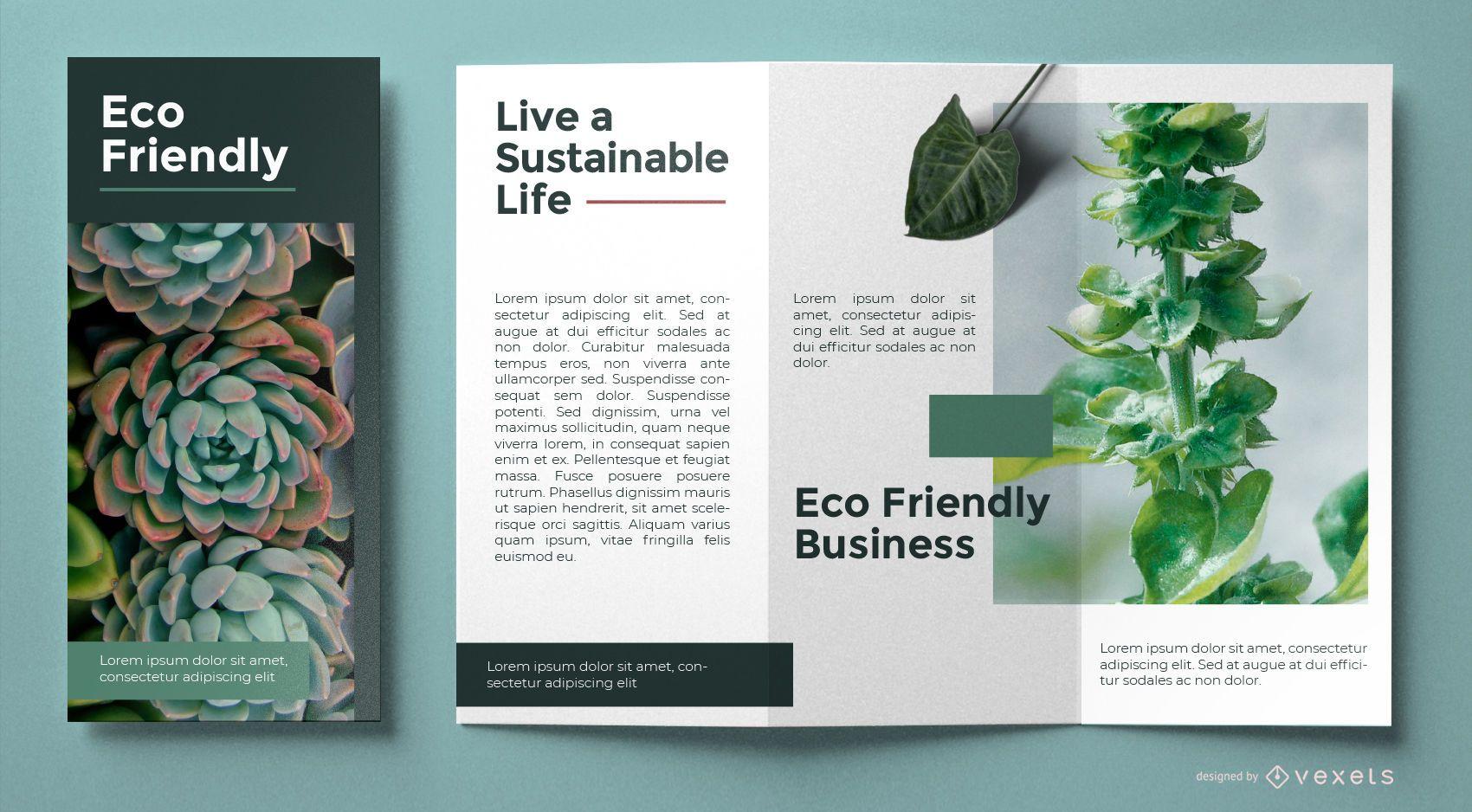 Eco friendly brochure template