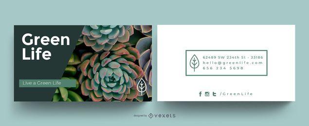 Design de cartão ecológico verde