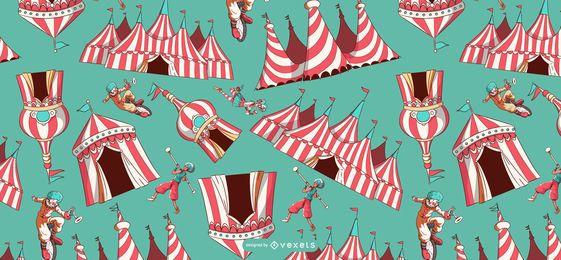 Desenho de padrão de tendas de circo