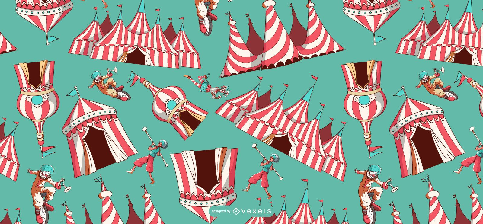 Circus tents pattern design