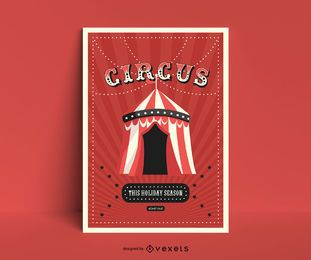 Design de cartaz de tenda de circo