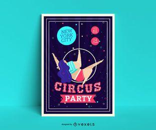 Plantilla de póster de fiesta de circo