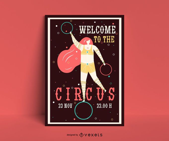 Modelo de cartaz - show de circo