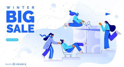 Diseño de gran venta de invierno