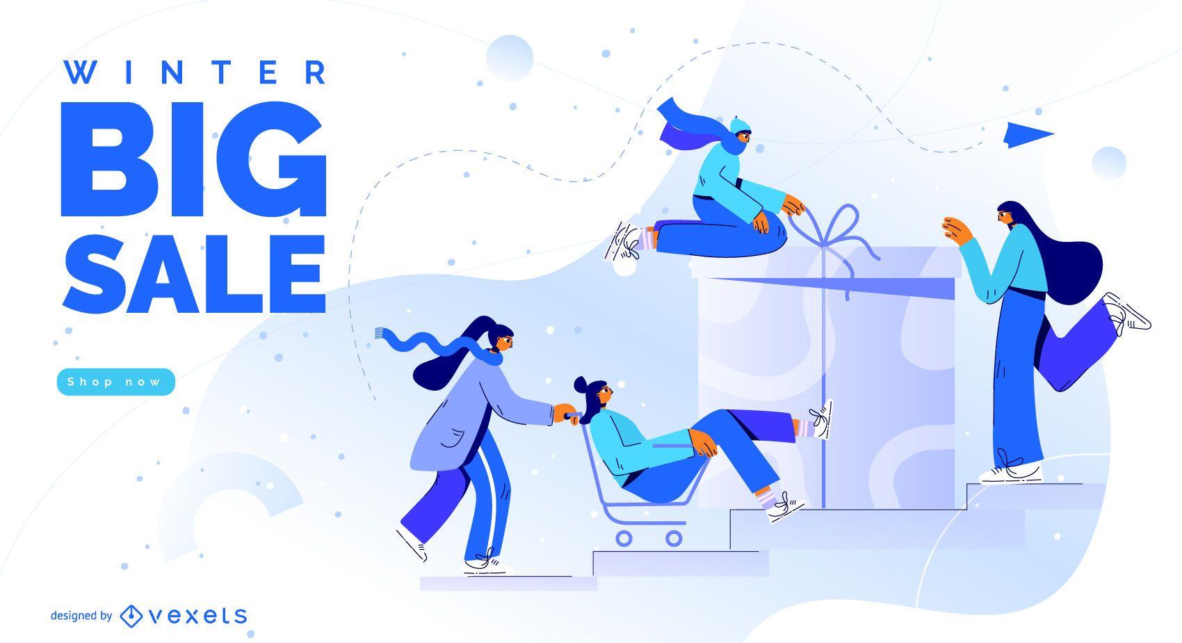 Winter big sale design