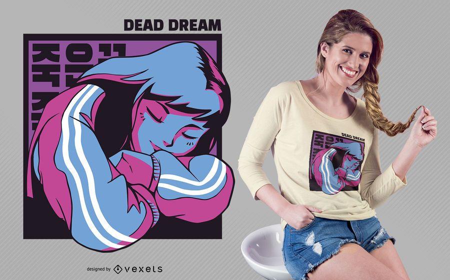 Design de camiseta de sonho morto