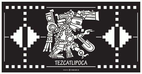 Aztekischer Gottentwurf Tezcatlipoca