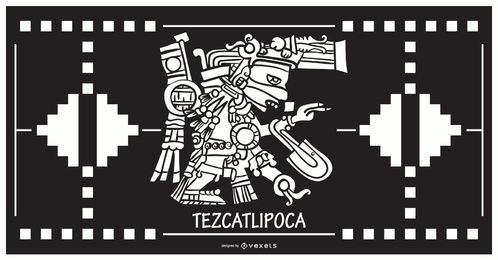 Tezcatlipoca aztec god design