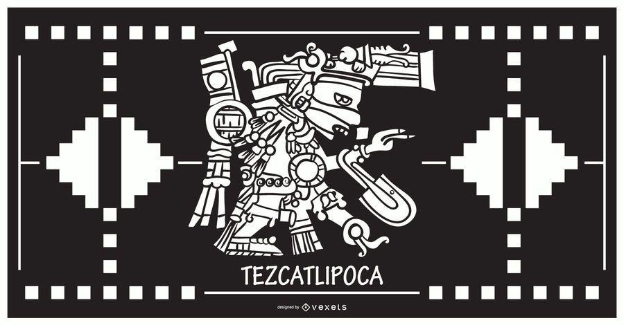 Tezcatlipoca aztec god design