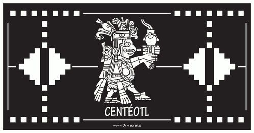 Centeotl aztec god design