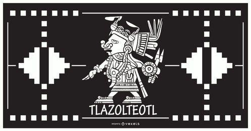 Diseño de dios azteca tlazolteol