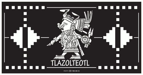 Tlazolteol aztekischer Gottentwurf