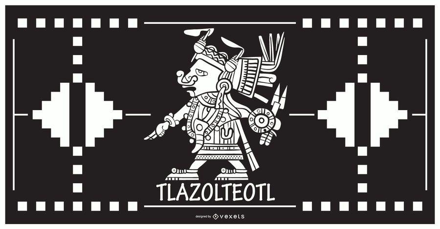 Tlazolteol aztec god design