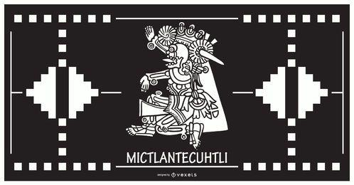 Mictlantecuhtli aztekischer Gottentwurf