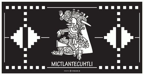 Projeto asteca do deus de Mictlantecuhtli