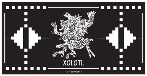 Xolotl aztekischer Gottentwurf