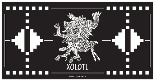 Xolotl dios azteca diseño