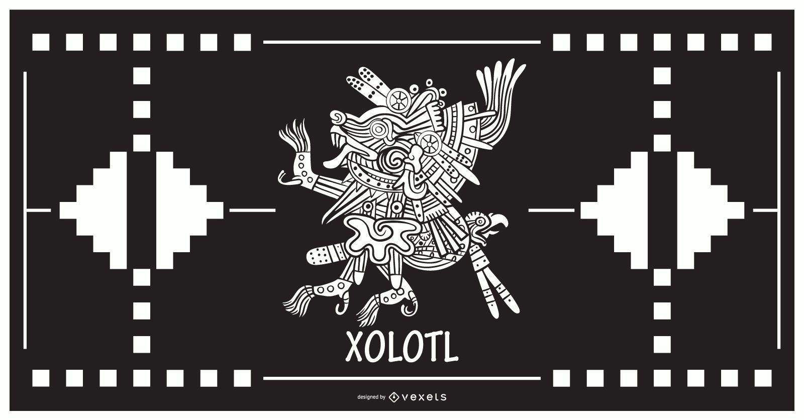 Xolotl aztec god design