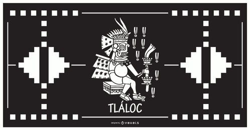 Tlaloc aztec god design