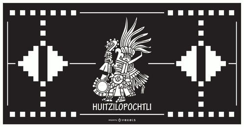 Huitzilopochtli asteca deus design