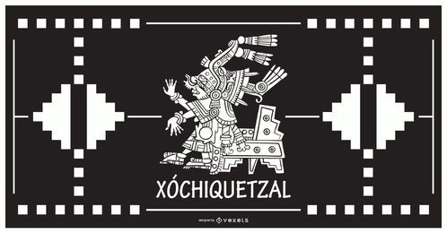 Xochiquetzal aztec god design
