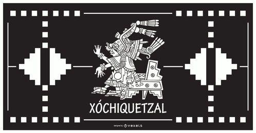 Xochiquetzal deus asteca design