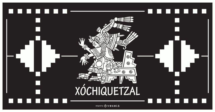 Xochiquetzal aztec god design