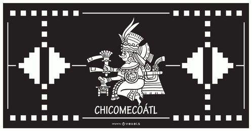 Chicomecoatl aztekischer Gottentwurf
