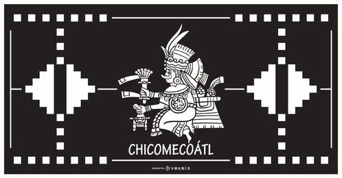 Design de deus asteca chicomecoatl