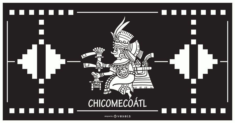 Chicomecoatl aztec god design