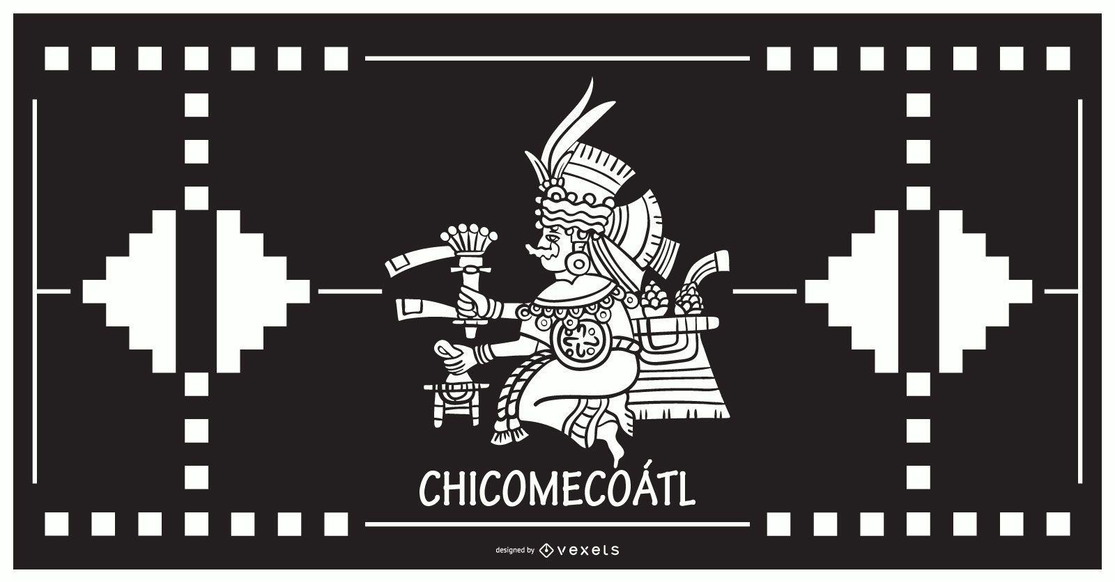 Chicomecoatl dios azteca diseño